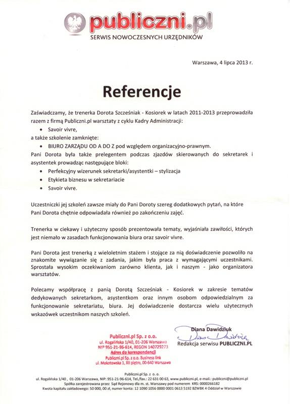 Referencje dla DSK Consulting publiczni.pl