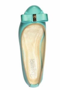 Balerinki w kolorze miętowym - stylizacja DSK Style