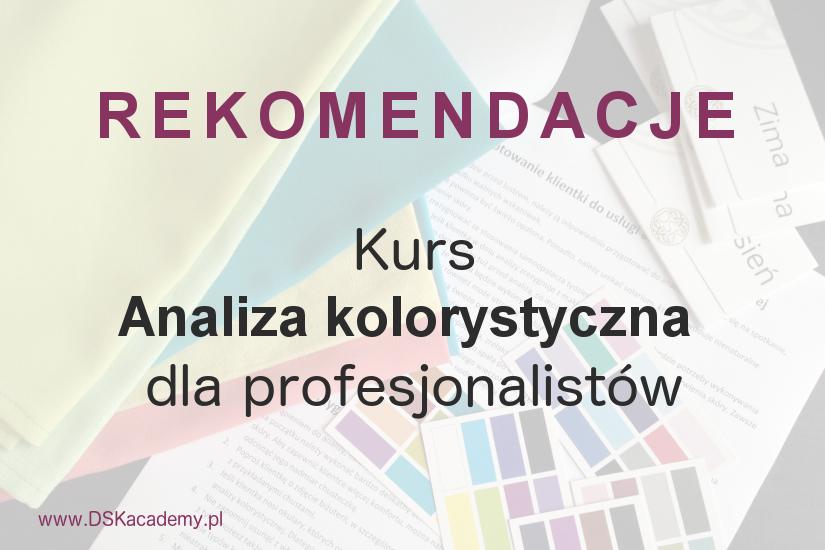 Kurs analiza kolorystyczna DSK Academy Rekomendacje